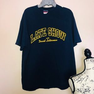 Late show with David letterman tee Xl